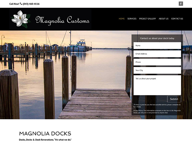 Magnolia Customs Website Design