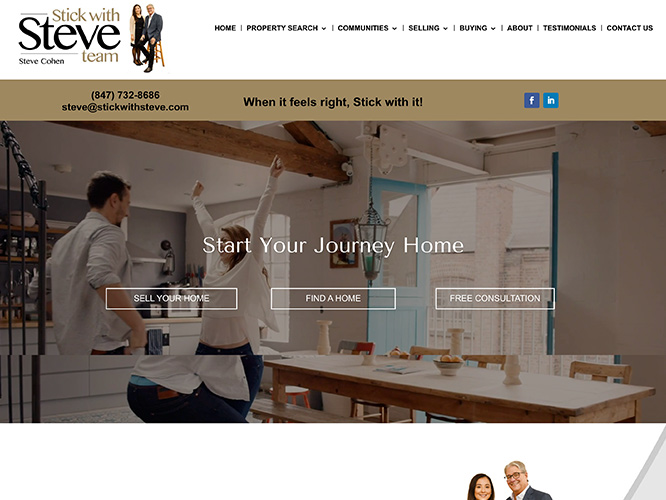 Stick with Steve Realtor Website