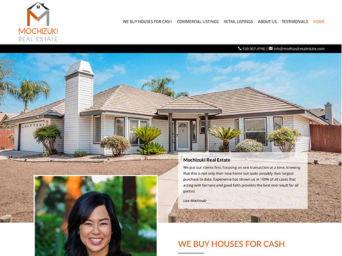 Mochizuchi Real Estate Website Design